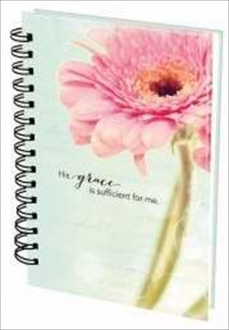 Christian Art Gifts 365701 Journal Wirebound His Grace Flowers Large by Christian Art Gifts