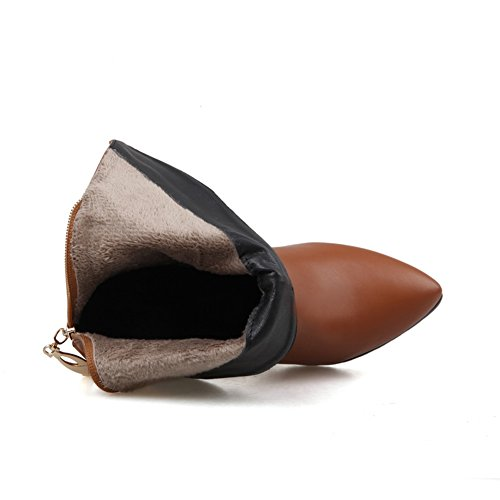 1TO9 - Stivali chelsea donna, Marrone (Brown), 35 EU