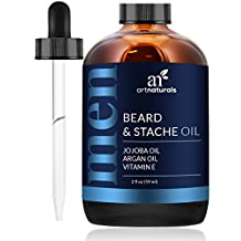 ArtNaturals Organic Beard Oil and Conditioner - Pure and Natural Unscented - for Groomed Beard Growth, Mustache, Face and Skin - Softens Your Beard, Stops Itching and Treats Acne, 2 oz / 60 ml.