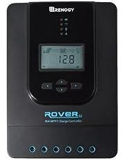 Renogy Rover 40 Amp 12V/24V DC Input MPPT Solar Charge Controller Auto Parameter Adjustable LCD Display Solar Panel Regulator fit for Gel Sealed Flooded and Lithium Battery