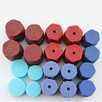 20Pcs//Set R134a 13mm /& 16mm Air Conditioning Service AC System Charging Port Caps AC Caps-20 10 Red High /& 10 Blue Low