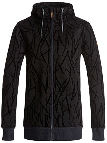F Roxy Sherpa True Printed Black con The Grass on Donna in Frost e Felpa Zip Cappuccio rprWZUq
