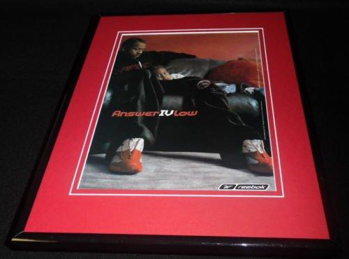 Allen Reebok Iverson - 2001 Reebok Allen Iverson Answer IV Low Framed 11x14 ORIGINAL Advertisement