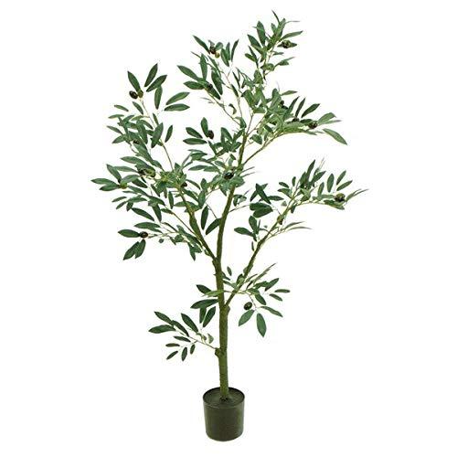 人工観葉植物 オリーブツリーポット4F 高さ120cm fg3920 (代引き不可) インテリアグリーン 造花 B07STJDND9