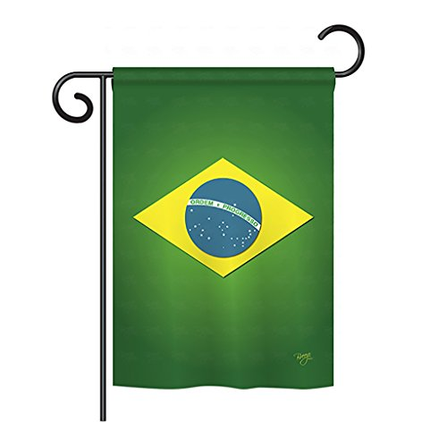 Breeze Decor G158090 Brazil Flags of The World Nationality Impressions Decorative Vertical Garden Flag 13