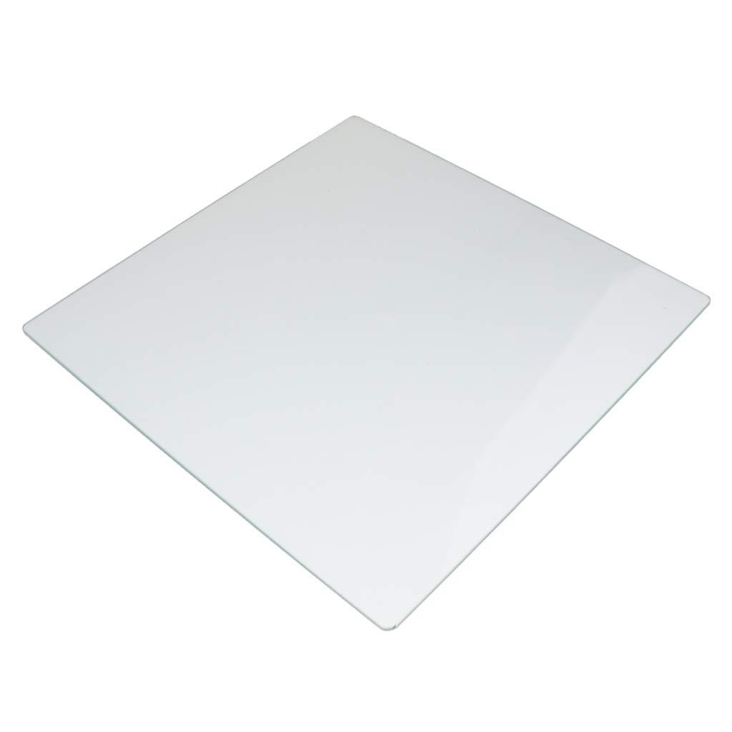 perfk 3D Drucker Glaspanel Glascheibe Heizbett Druckbett Borosilikatglas fü r 3D Drucker Cr-10 / Cr-10s, 310x310x4mm