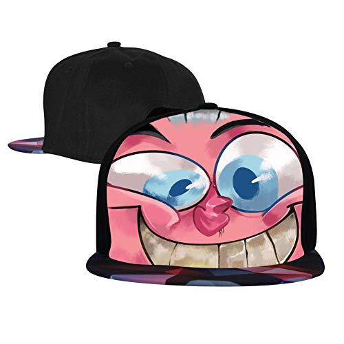 Caps Ren and Stim-Py Hip Hop Baseball Cap Adjustable Flatbrim Hats for Unisex Snapback Red