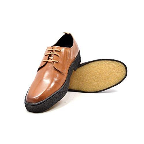 Collezione British - Originali Scarpe Da Playboy In Pelle Di Basso Taglio Cognac