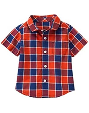 Checkered Button Down Shirt - Size 18-24 Months