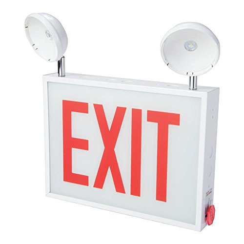 Steel Exit Sign - Sure-Lites CHXC71 CHXC Series 3.6-Watt 2-Head White Integrated LED Sign Combo Exit Emergency Light,