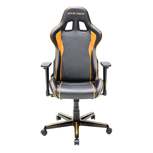 DXRacer Formula Series DOH/FH08/NO Newedge Edition Racing Bucket Seat Office Chair Gaming Chair Ergonomic Computer Chair (Black/Orange) with Pillows by DX Racer