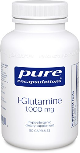 Pure Encapsulations - l-Glutamine 1000 mg - Hypoallergenic Supplement Supports Muscle Mass and Gastrointestinal Tract* - 90 Capsules