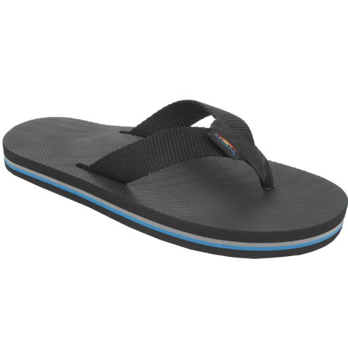 Sandal Women's Black Sandals Classic Rubber Rainbow ISwBqARR