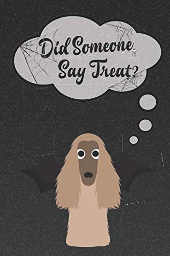 Afghan Hound Lined Notebook: A Halloween Themed Notebook For Afghan Hound Lovers (Dog Halloween Notebooks and -