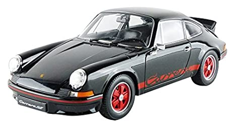 Welly - 18044bk - Porsche 911 Carrera 2.7 RS - 1973 - Escala 1/18 - Negro: Amazon.es: Juguetes y juegos