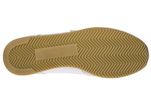 Scarpe Da Uomo Uomini Modello Di Philippe Sneakers Scarpe Tropez White Suede