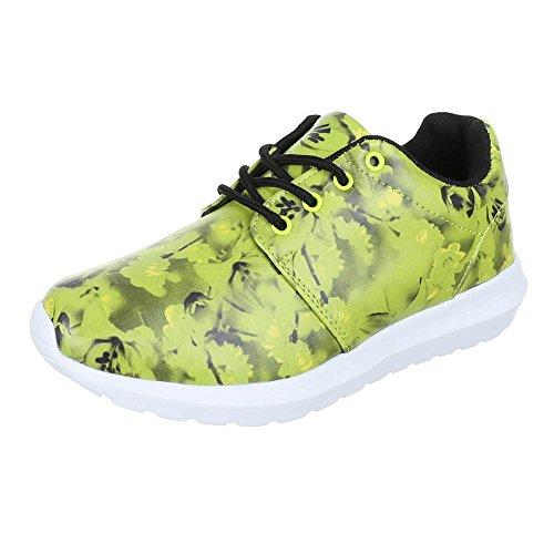 Ital-Design - Zapatillas de Material Sintético para mujer Verde - Neongrün