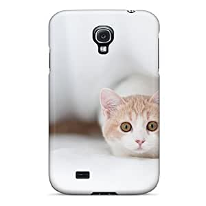CADike EEtiEHj1367RfivL Case Cover Galaxy S4 Protective Case Frightened Cat