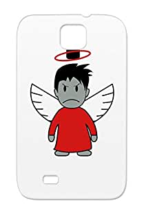 Devil TPU Red Comic Devil Wings Funny Satire Funny Demanding Angel Angry Cartoon Figure Case For Sumsang Galaxy S4