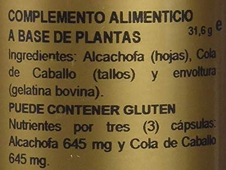 Alcachofa + Cola de Caballo 430MG 60 caps Obire . (Pack 3u.): Amazon.es: Salud y cuidado personal
