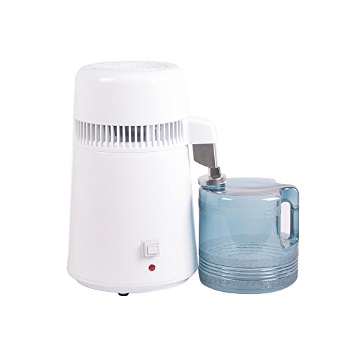 Funwill Countertop Water Distiller Machine Stainless Steel Interior Home Distilled Water Purifier Filter, Pure Water Maker with 4L Container by Funwill