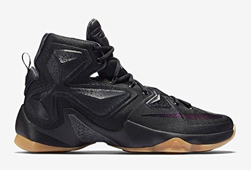 Nike Lebron XIII GS (Black/Black/Anthracite) Black Gum (5 - Nike Basketball Sneakers Black