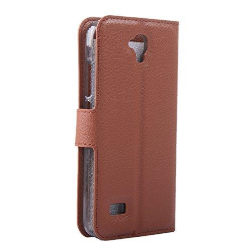 Y5 - Y560 funda , Huawei Y5 Y560 4.5 funda , Lifetrut® [ Rosa ] [Función Monedero] magnético del caso de la cartera premium Monedero Snap Case incorporado ranuras para tarjetas Voltear cubierta de la A-03-Brown