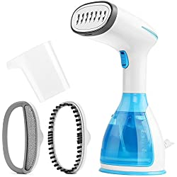 GLAMOURIC Handheld Garment Steamer Mini Portable Travel Garment Steamer for Clothes Fast Heat Fabric Wrinkle Iron Steamer with Large 280ml Water Tank Capacity and Anti-Leakage Design