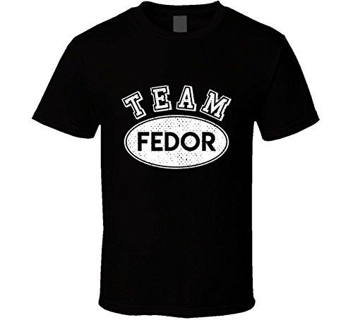 SHAMBLES TEES Team Fedor Last Name Family Reunion Group T Shirt L - Fedor Black