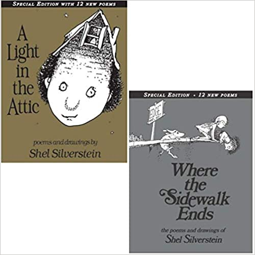Shel Silverstein Pack 2 Book Set: Where the Sidewalk Ends and A Light in the Attic