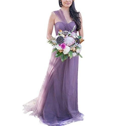 Spalline Cerimonia Abito Lunghi Vestito Eleganti Cocktail Da Sera Senza iShine Chiaro Elegante Donna Viola Abiti SI7wv4x