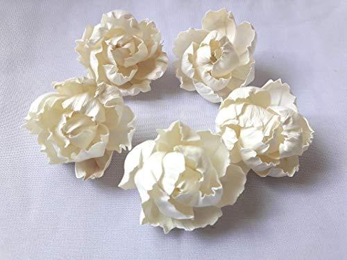 Jikkolumlukka 13 Peony Flower Sola Balsa Wood Diffuser Handcraft Decor Home Fragrance Wedding 5Cm ()