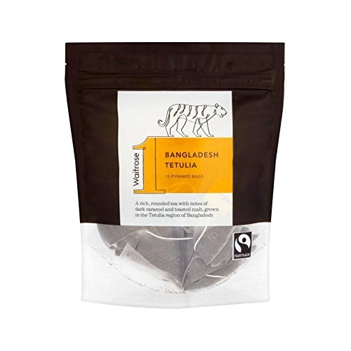 Bangladesh Tetulia Pyramid Teabags Waitrose 15 per pack (Pack of 6) by WAITROSE