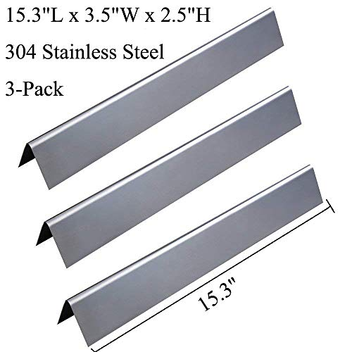 E210 Series - GasSaf 15.3inch Flavorizer Bar Replacement for Weber 7635, Spirit 200 Series, Spirit E-210, S-210, E-220, S-220(2013-2016), 3-Pack 304 Stainless Steel Durable Flavor Bars(15.3