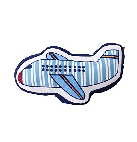 (Abreeze Airplane Shaped Pillow Decorative Pillows Bed Decor Little Girls Boys Toy)