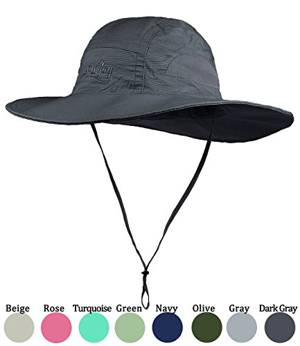 Sun Hat for Men&Women,Breathable Wide Brim Beach Cap with Adjustable Drawstring,Perfect for Hiking,Fishing,Boating
