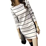 Pullover Sweaters Autumn & Winter Slim Long Women Bottoming Striped Knitted