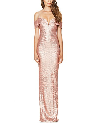 Champagne Shoulder BeneGreat Dress Women's Formal Evening Gowns Sequin Long Off Party vwBWqw6EA