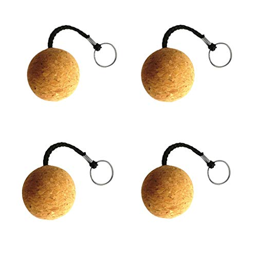5cm Floating Cork Keyring Wooden Ball Water Buoyant Key Ring Fit for Marine Sailing Boat Float Water Sports Key Replacement (4)