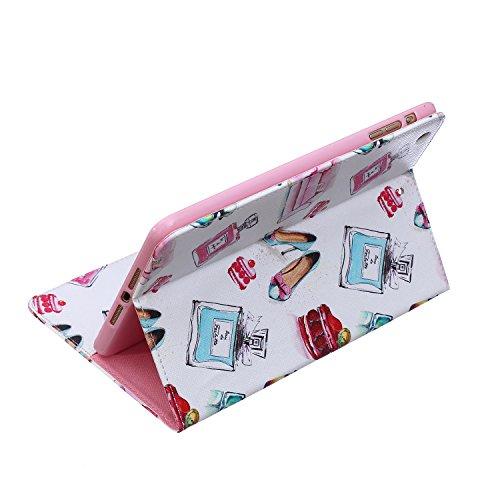 MACOOL patrón de impresión de la PU del estilo del libro de cuero caja del teléfono Klapptasche Caso en folio de la cubierta móvil para el de Apple ipad mini 3/2/1 Caso Monedero Protección Shell cubie 10PATTERN