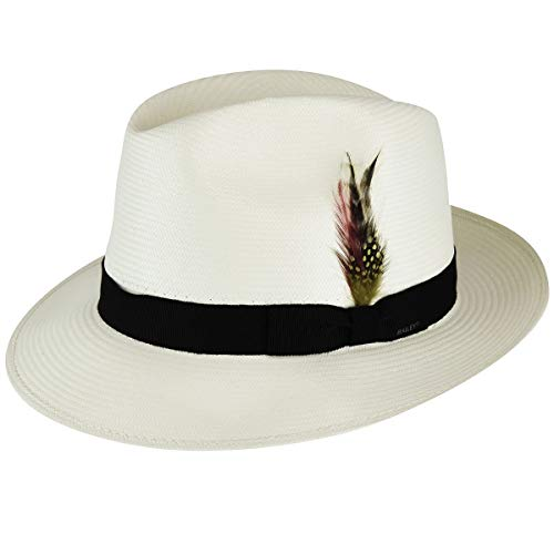 Bailey of Hollywood Men Hanson Litestraw Fedora Natural/Black XL