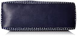 Tommy Hilfiger Lucie Jacquard Shopper Top Handle Bag, Navy/White, One Size
