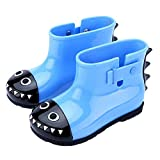 Sunshine-G Girls Kids Boys Baby Waterproof Jacket Dinosaur Raincoat Hoodies and Rain Boots(1T Blue Rainboots)