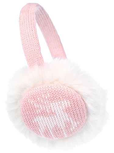 Wonderland Snowflake/Reindeer Knit Faux Fur Ear Warmers for
