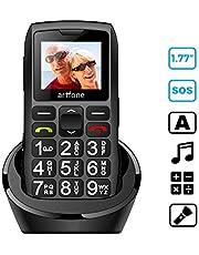 artfone Seniorenhandy ohne Vertrag   Dual SIM Handy mit Notruftaste   Rentner Handy große Tasten   1400 mAh Akku Lange Standby-Zeit   1,77 Zoll Farbdisplay   2G GSM Großtastenhandy mit Ladestation