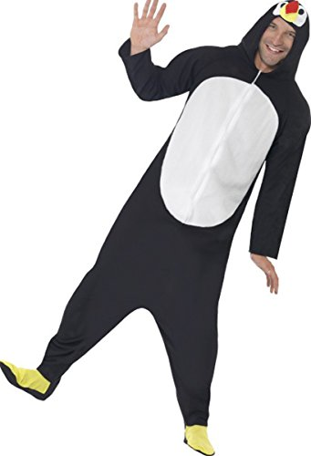 Men World Book Day Fancy Dress Penguin Ostume Costume Outfit Black