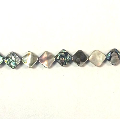 Imagine If...Abalone Diamond 10x10mm, 40 pcs Beads Gorgeous Natural Gemstone Loose Beads for Jewelry Making