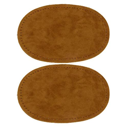 Sew-On Oval Elbow/Knee Patches Cord Corduroy Jeans Repair Craft Sewing Applique | Color - Camel ()