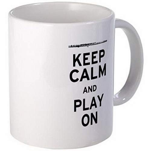 Oversized Coffee Mugs 11 Ounce Mug - Keep Calm Flute Mug - S White Coffee Cup Shop By Ugtell