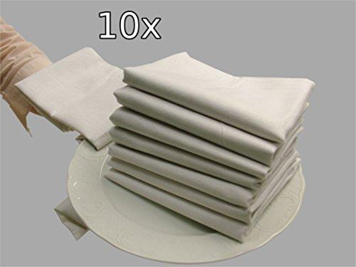 10er Set weiße Halbleinen-Geschirrtücher 50x70 cm von Castejo Farbe weiß Trockentuch Kückentuch Gastronomie Restaurant Großküche CA29/10